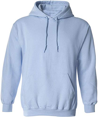 Joe's USA - Big Mens Size Three Extra Large Hoodie Sweatshirts-3XL in Light Blue