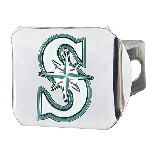 FANMATS MLB - Seattle Mariners Color Hitch - Chrome ()