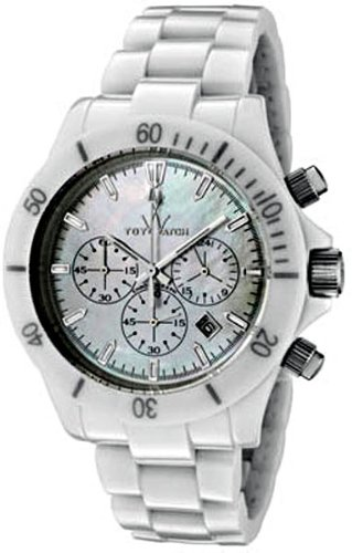 White Mother Of Pearl Chronograph - ToyWatch Women's Mavi Ceramic White Mother Of Pearl Dial Chronograph White Ceramic