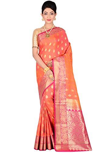 AllSilks Uppada Silk Orange Shaded Woven Saree for Women