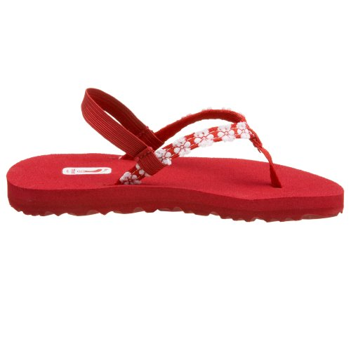 Teva Little Flowers Girls Kinder Sandalen Zehentrenner Schuhe Kids Rot
