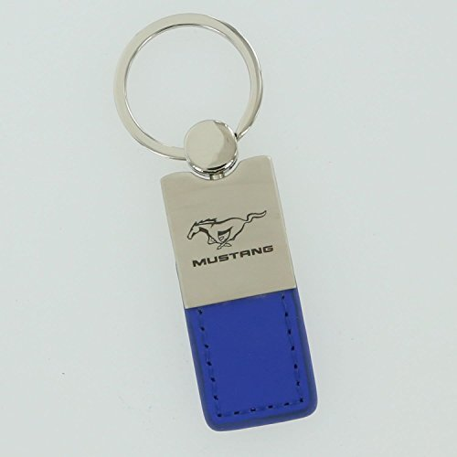 Ford Mustang Blue Leather Key Ring