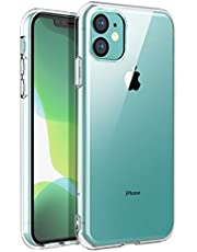 SKYLMW iPhone 11 Case, Shockproof Protection Thin Slim Soft TPU Bumper Protective Phone Cover Cases for iPhone 11 6.1 inch,Clear