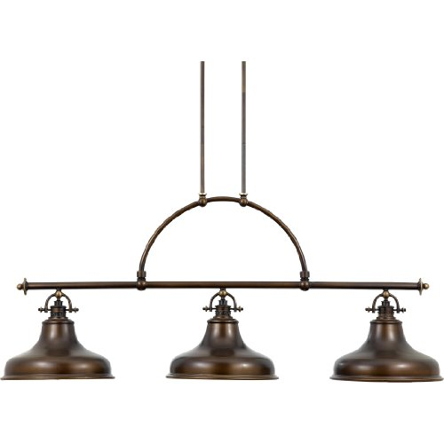Multi Pendants Island Light (Quoizel ER353PN 3-Light Emery Island Chandelier in Palladian Bronze)