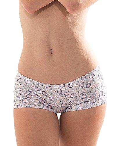 Croota Women's Seamless Boyshorts Underwear, Comfy Designer Panties, WUDD01S