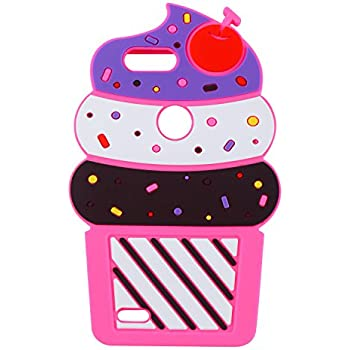 Joyleop Case for ZTE Blade Z Max, ZTE Zmax Pro 2,3D Cartoon Soft Silicone Cute Fun Cover,Kawaii Unique Kids Girls Lady Food Character Rubber Shockproof ...