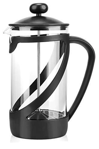 COM-FOUR® cafetera con sistema de prensa francés – la prensa de café también sirve como tetera – cafetera con cilindro…