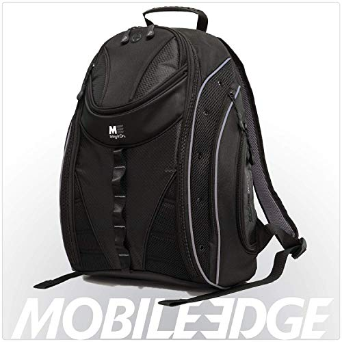 Mobile Edge Black w/Silver Trim Express Laptop Backpack 2.0 16 Inch PC, 17 Inch Mac for Men, Women, Students MEBPE22 ()