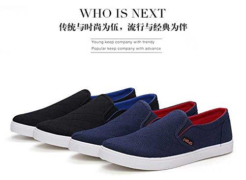 Gaorui Heren Fashion Sneakers Canvas Slipper Scarpe Sportive Blu Gr.42.43 Nero