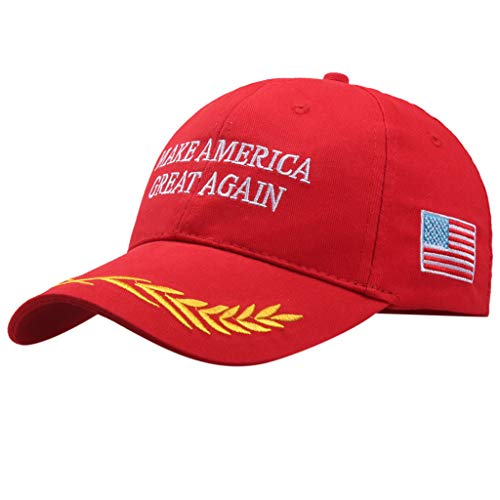 OutTop(TM) 2PCS Trump 2020 Keep America Great Campaign Embroidered USA Hat Baseball Bucket Trucker Cap (A)