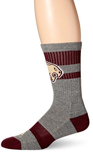 - adidas NCAA Texas State Bobcats Men's Crew Socks, Size 12-15, Grey