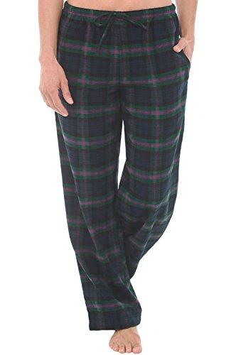 Del Rossa Women's Flannel Pajama Pants, Long Cotton Pj Bottoms, XL Blue (Flannel Pj Shirt)
