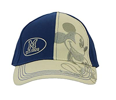 Disney Adult Mickey Mouse Navy And Stone 1928 Embroidered 2 Tone Cap by Disney