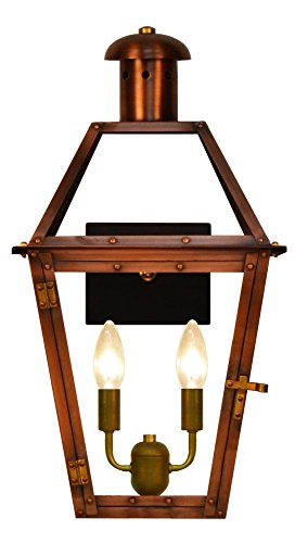 TheCopperSmith Georgetown 18″ 2 Lite Electric Lantern GT18-Elec For Sale