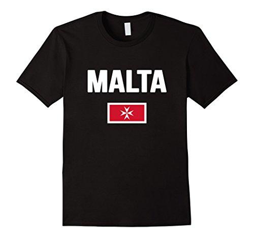 Mens Maltese Cross Flag T-shirt Malta 3XL - Color Malta