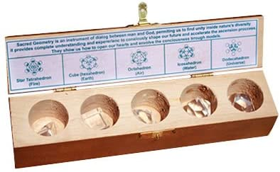lcbe Solides de Platon (Piedra de Cristal de Roca en Estuche de Madera: Amazon.es: Hogar