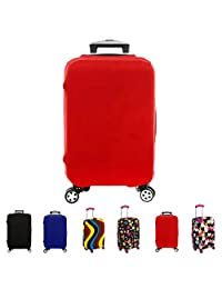 """FanaticalPurchase Travel Luggage Protector Suitcase Cover Fits 18-30 Inch (26""""-30"""", Red)"""