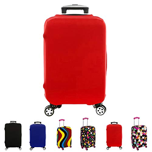 FanaticalPurchase Travel Luggage Protector Suitcase Cover Fits 18-30 Inch (26″-30″, Red)