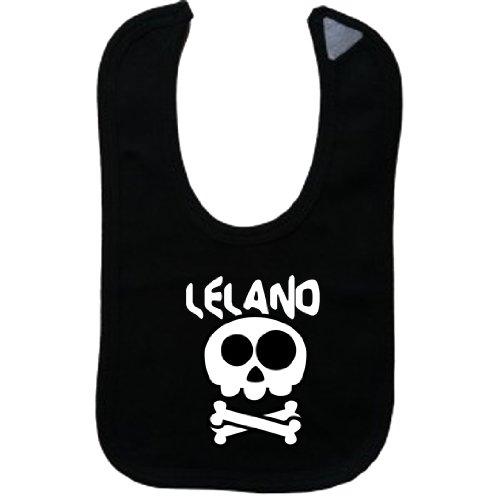 Leland Series - LELAND - Vintage Skull And Bones - Name-Series - Black Bib