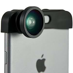 FIRST2SAVVV JTSJ-5.5A08 - Pack de lentes para Apple iPhone 6 Plus (ojo de pez, súper gran angular, micro, incluye paño de limpieza), negro