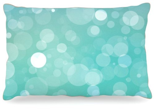Kess InHouse KESS Original ''Let it Go'' Aqua Bokeh Dog Bed, 30 by 40-Inch by Kess InHouse