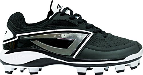 (3N2 Women's Dom-N-8 TPU Softball Cleats (Black/Black, 9 B(M) US))