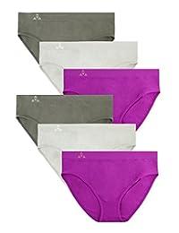 Balanced Tech Women's Seamless Bikini Panties 6-Pack - Assorted Colors