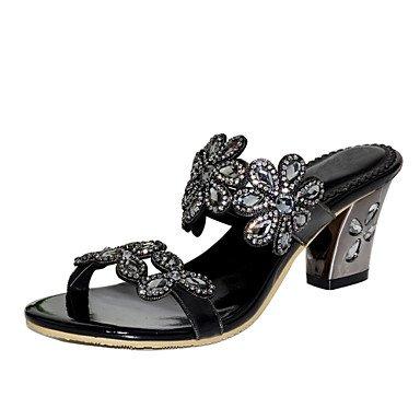 Pedrería 5 mejor Tacón mujer Zapatos Moda regalo de Verano Primavera Purpurina abierta eu37 Poliuretano para Botas Cristal 5 uk4 Hebilla 5 Sandalias para y Mujer us6 Cuadrado madre 7 El Puntera 4dqHwxZq