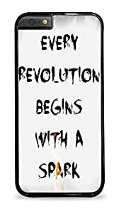 Hunger Games -Every Revolution Begins With A Spark Apple iPhone 6 (4.7 inch) i6 Silicone Case - Black