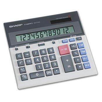 """Sharp 12-Dgt Desktop Calculator,Dual Power,7-1/2""""x6-7/8""""x2-2/3"""",GY"""
