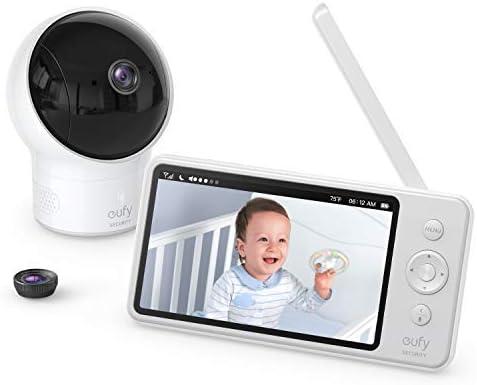 Babyphone caméra eufy Security SpaceView - Moniteur vidéo bébé résolution 720p HD, affichage LCD 5