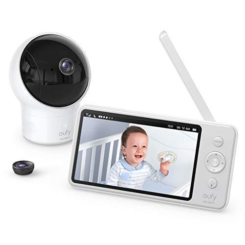 eufy by Anker Security babyfoon Babyphone Video Baby Monitor met Camera en Audio, 720p HD Resolutie, 5 inch scherm, 110…