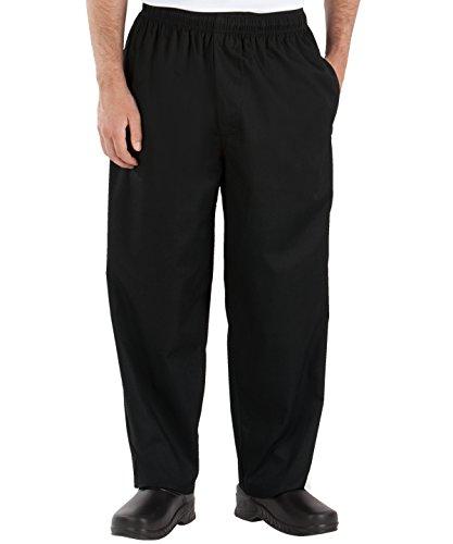 Classic Cotton Uniform (Happy Chef Uniforms Poly Cotton Classic Baggy Pants, Medium, Black)