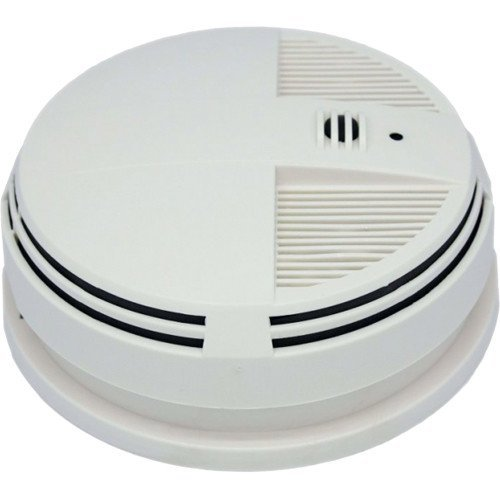 KJB 720P Battery Powered Night-Vision Infrared WiFi Smoke Detector Hidden Covert Camera Recorder DVR Bottom View