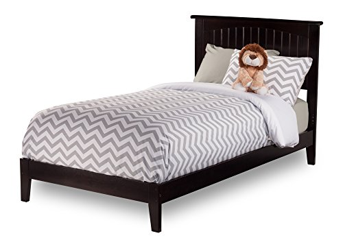 Twin Bed Cottage (Atlantic Furniture Nantucket Bed with Open Foot Rail, Twin Extra Long, Espresso)