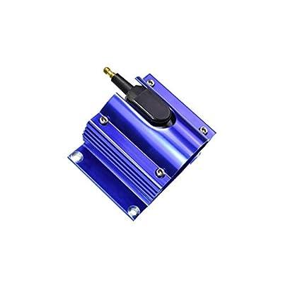 New A-Team Performance E-Core Ignition Coil Remote Billet Aluminum Male E-Coil 50,000 Volts Blue: Automotive