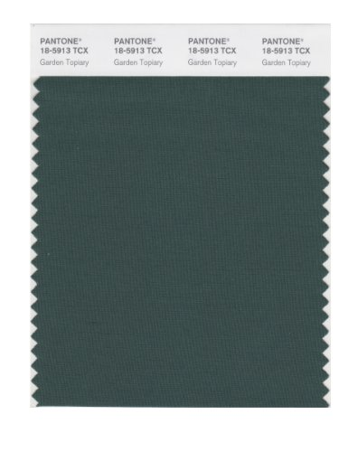 PANTONE SMART 18-5913X Color Swatch Card, Garden Topiary (Card Topiary)