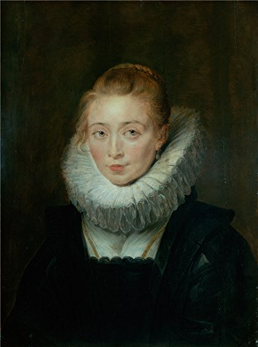 Oil Painting 'Rubens, Pieter Paul_1620s_Portrait Of Lady-in-Waiting To The Infanta Isabella' 12 x 16 inch / 30 x
