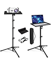 Universal Projector Stand Tripod, Quality Portable Laptop Tripod Stand with Metal Tray for Outdoor Indoor Home Theater Office Projection Stage Studio as Dj Equipment Tripod Stand with Carrying Bag