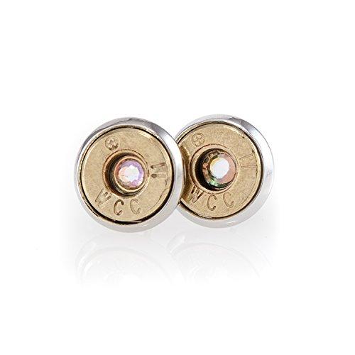 9mm bullet stud earrings - 1