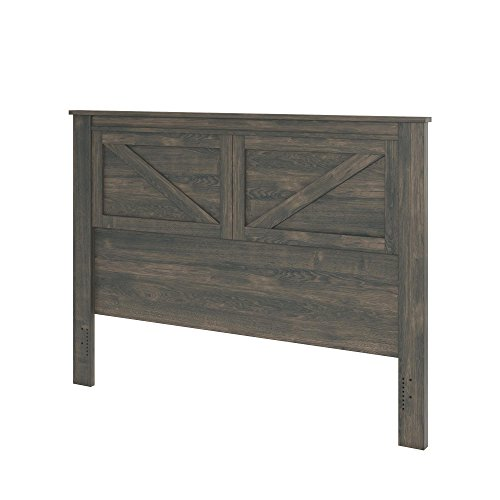 Ameriwood Home 5749213COM Farmington, Queen Headboard, Weathered Oak Dark Oak Panel Bed