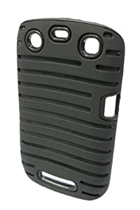 GO BC372 9360 Silicone Lined Protective Case for BlackBerry 9360 - 1 Pack - Retail Packaging - Black