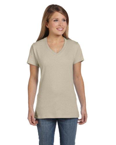 Hanes Nano-T–V-Neck T-Shirt (s04V) Vintage Khaki