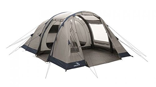 Easy Camp Tempest 500 Inflatable Tunnel – 5 Person, 3 Rooms, Light/Dark Blue, 120255