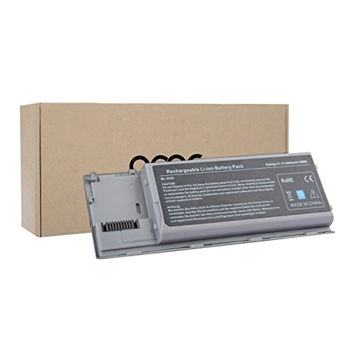 OMCreate Laptop Battery for Dell Latitude D630 D620, fits P/N PC764 PP18L TC030 - 12 Months Warranty [6-Cell Li-ion] (Laptop Battery Latitude D620)