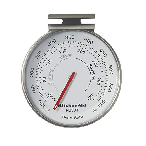 KitchenAid KQ903 3-in Dial Oven Thermometer, TEMPERATURE RANGE: 100°F to 600°F, Black