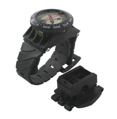 Dive Watch Compass (Scuba Choice Scuba Diving Deluxe Wrist Compass with Hose Mount)