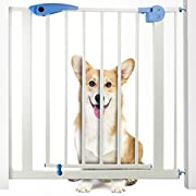 Heavy Duty Easy Open Walk-Thru Steel Safety Gate – Great for Pets and Children!