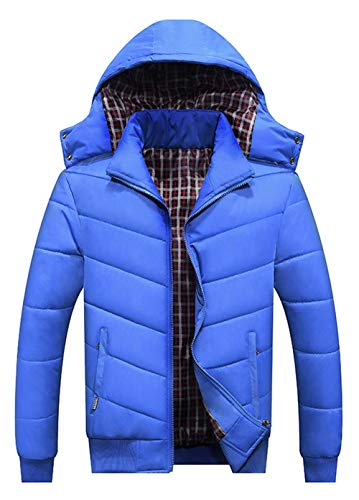 Thick Casual Hooded Coat Quilted Jacket Jacket Outdoor Jacket Blau Cotton Men's Winter Parker Warm Warm Moxishop W4FHTxUn