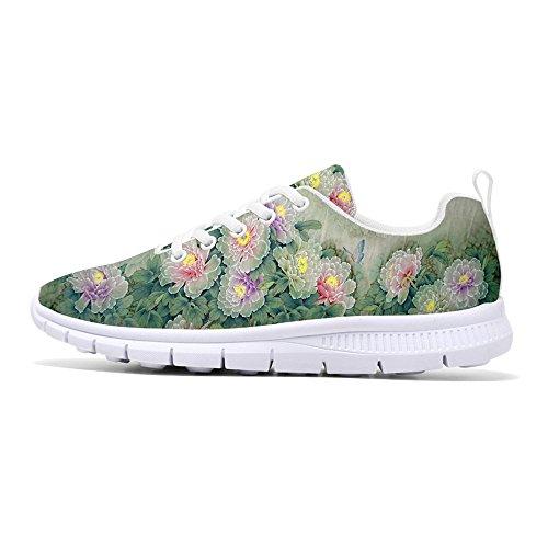 FIRST DANCE 2017 Fashion Flower Design Womens Running Shoes Lightweight Walking Sneakers Floral 15 INIuN1N37n